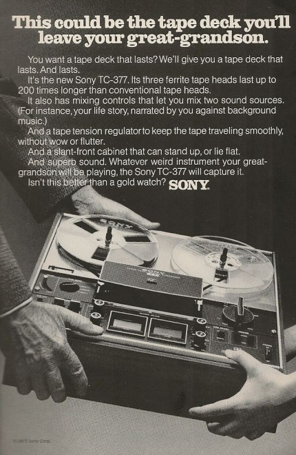 Sony Vintage Ad 1973 Tape Deck